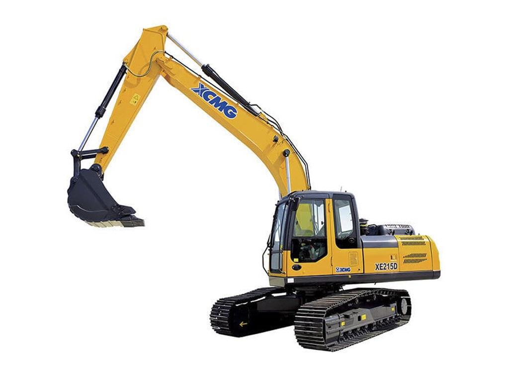 Excavadora sobre orugas XE215